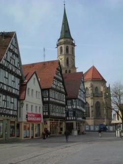 Blick auf Evangelische Stadtkirche