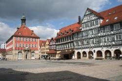 Schorndorf Oberer Marktplatz mit Rathaus